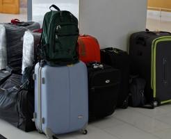 スーツケースの汚れ