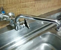 キッチン蛇口掃除